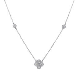 SINGLE CLUSTER SECTION DIAMOND BY THE YARD NECKLACE