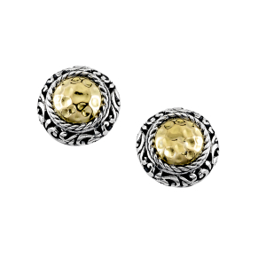 ROUND HAMMERED STUD EARRINGS