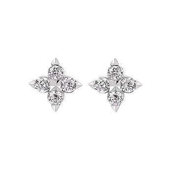 DIAMOND CLUSTER STYLE STUD EARRINGS