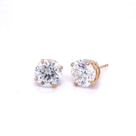 4.18CT TOTAL WEIGHT DIAMOND STUD EARRINGS