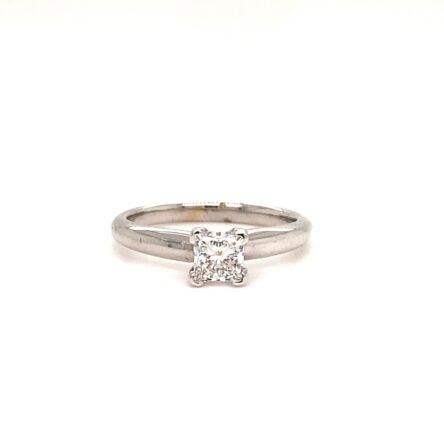 0.70ct Princess Cut Diamond Solitaire Engagement Style Ring
