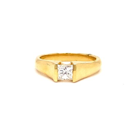 0.48ct Princess Cut Diamond Solitaire Engagement Style Ring