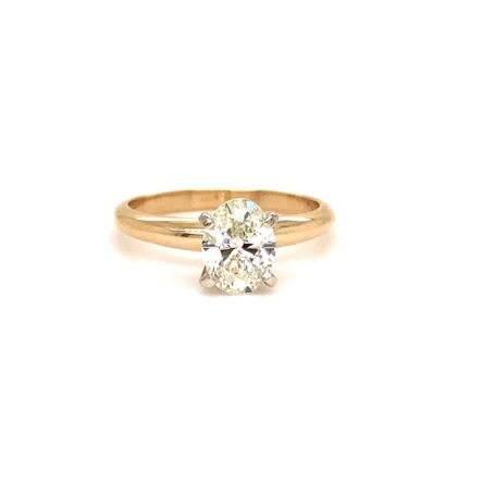 1.01ct Oval Cut Diamond Solitaire Engagement Style Ring