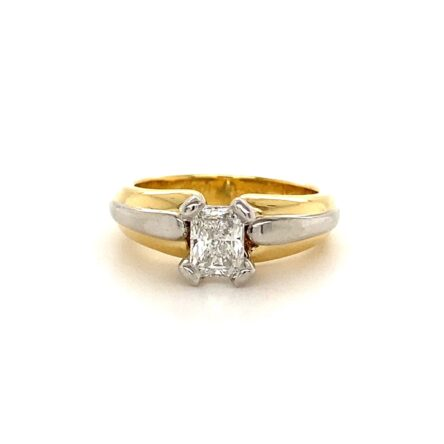 0.72ct Radiant Cut Diamond Solitaire Engagement Style Ring