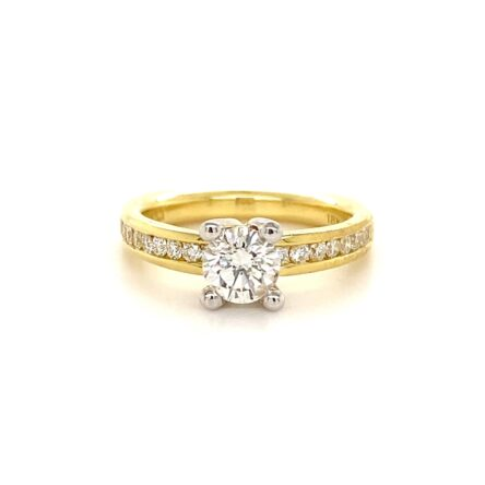0.73ct Round Brilliant Cut Diamond Engagement Style Ring