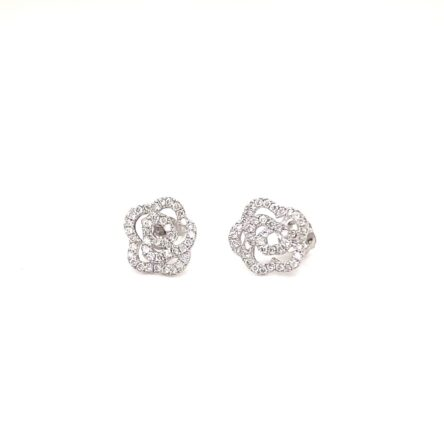 DIAMOND PETITE FLOWER STUD EARRINGS