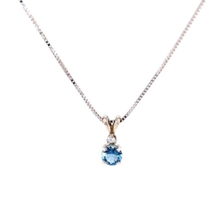 AQUA & DIAMOND PENDANT