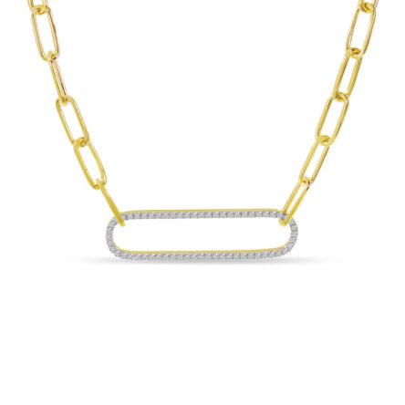 DIAMOND PAPERCLIP LINK NECKLACE