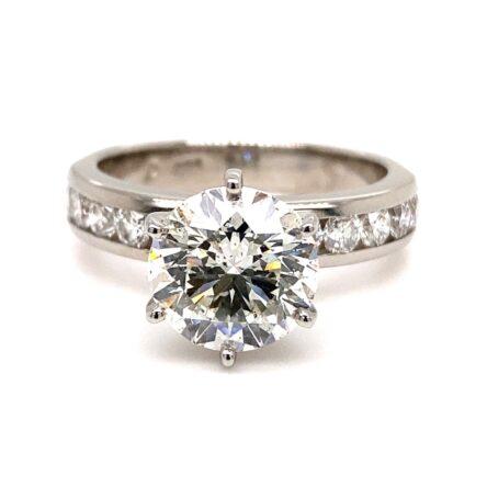 3.01ct Round Brilliant Cut Diamond Engagement Ring