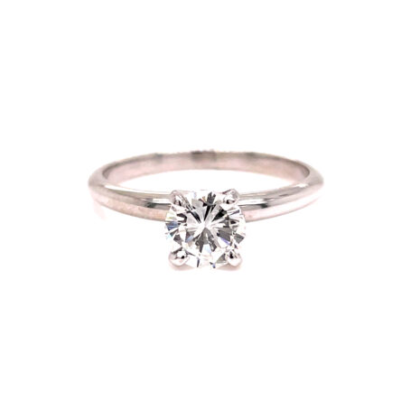 0.83ct Round Brilliant Cut Diamond Solitaire Engagement Ring