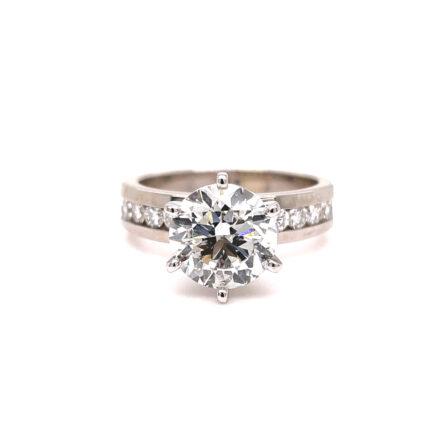 2.62ct Round Brilliant Cut Diamond Engagement Ring