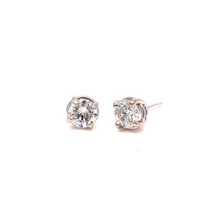 0.58ct TOTAL WEIGHT DIAMOND STUD EARRINGS