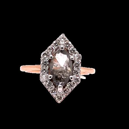 SALT & PEPPER DIAMOND FASHION RING